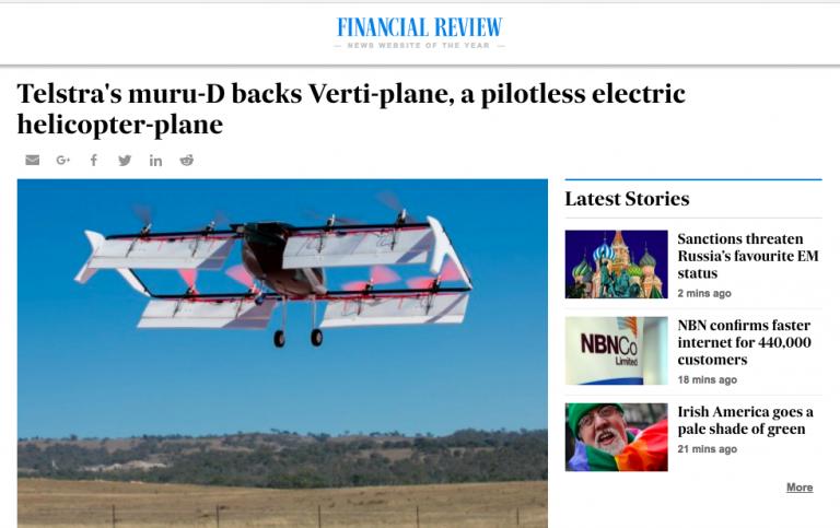 Telstra muru-D startup accelerator Verti Plane